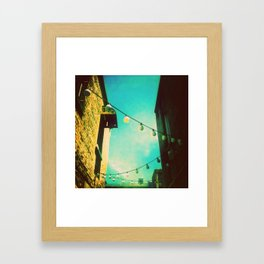 Valley Laneway in Lights  Framed Art Print