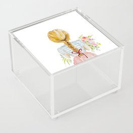 Blonde Girl with Flowers Acrylic Box