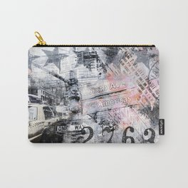 New York  street mixed media art Carry-All Pouch