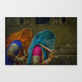 Veiled Ghoomar Dancers Canvas Print