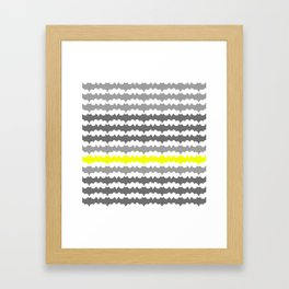 Gray and Yellow Abstract Pillow Framed Art Print