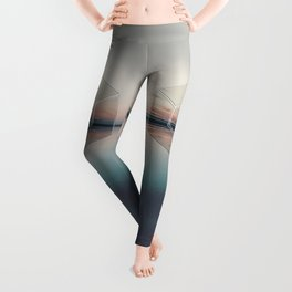 Tranquil Landscape Geometry Leggings