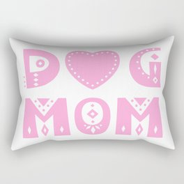 Dog Mom Rectangular Pillow