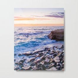 Rocky Coastline at La Jolla Shores Fine Art Print Metal Print