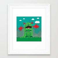 dragons Framed Art Prints featuring Dragons! by SkippyZA