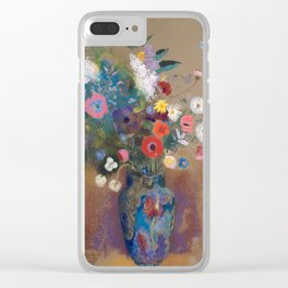 Odilon Redon - Bouquet of Flowers (1900-05) Clear iPhone Case