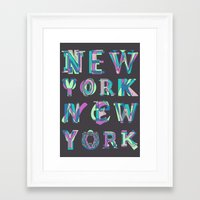 nyc Framed Art Prints featuring NYC by Fimbis