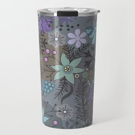 Colorful grey xmas pattern Travel Mug