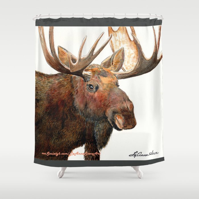 Michelangelo Moose Shower Curtain