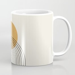 Gold Sun rainbow mountain Coffee Mug