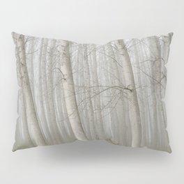 Foggy Poplars Pillow Sham