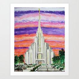 Rome Italy LDS Temple Art Print
