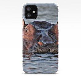 Big hippopotamus iPhone Case