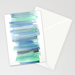 Frozen Summer Series 159 | Watercolor Simple Pattern Blue Shades Vertical Stationery Cards
