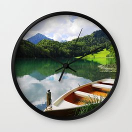 rowing boat on Alatsee Wall Clock