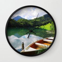 rowing boat on Alatsee Wall Clock