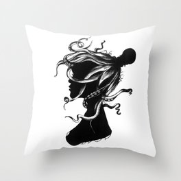 Squindy Silhouette Throw Pillow