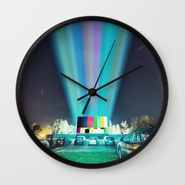 Drive In Test Pattern Wall Clock