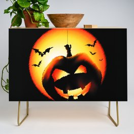Smile Of Scary Pumpkin Credenza