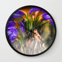 Concept flora : Crocus wings Wall Clock
