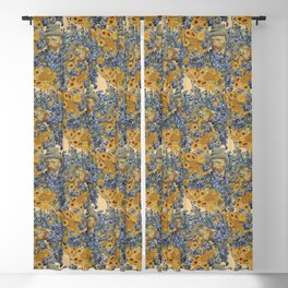 Van Gogh and flowers Blackout Curtain