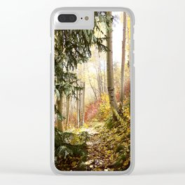 Fairytale Forest Clear iPhone Case