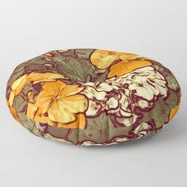 Orange Geranium, Plant of Feminine Healing Floor Pillow