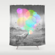 The Echoes of Silence Shower Curtain