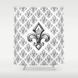 Royal - fleur de lys Shower Curtain