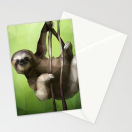 Sloth (Low Poly Lime) Stationery Cards