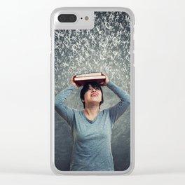 falling letters Clear iPhone Case