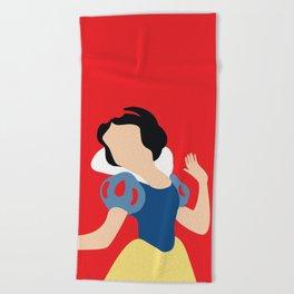 Snow White Beach Towel