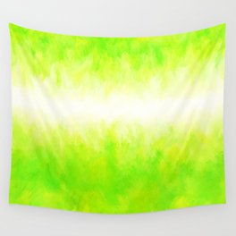 Neon Lemon Lime Abstract Wall Tapestry