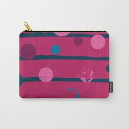 Blue stripes and dots classic simple pattern Carry-All Pouch