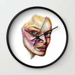 Face Pointed Out Wall Clock