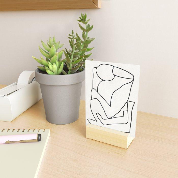 Abstract line art 2 Mini Art Print