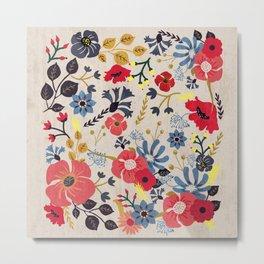 Summer Flowers - Pattern Metal Print