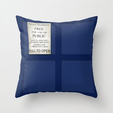 Pull to open! Throw Pillow