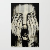 scream Canvas Prints featuring scream by LouiJoverArt