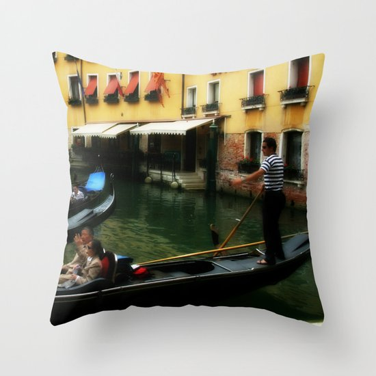 Venice Gondola 1 Throw Pillow