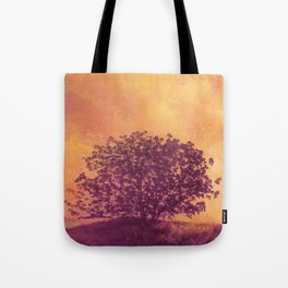 Red Violet Lone Tree and Fall Sunlight Tote Bag
