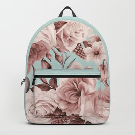 SEPIA ROSES ON GREEN Backpack