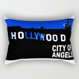 Hollywood Sign at Night Rectangular Pillow