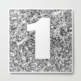 one Metal Print
