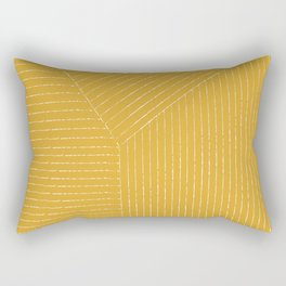 Lines / Yellow Rectangular Pillow