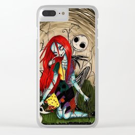 Jack and sally nightmere Clear iPhone Case