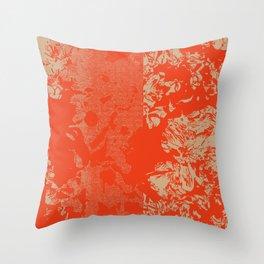 Vermillion Azaleas Throw Pillow