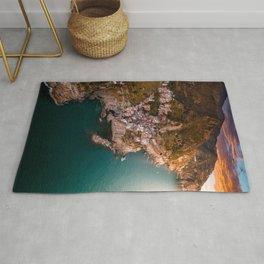 Aerial above Cinque Terre, Italy Rug