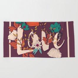 Type Love 001 Beach Towel