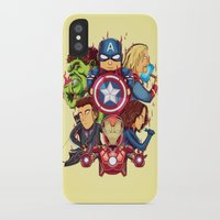 avenger iPhone & iPod Cases featuring The Avenger by rendhy wahyu